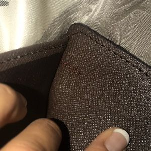 LV passport paper holder wallet